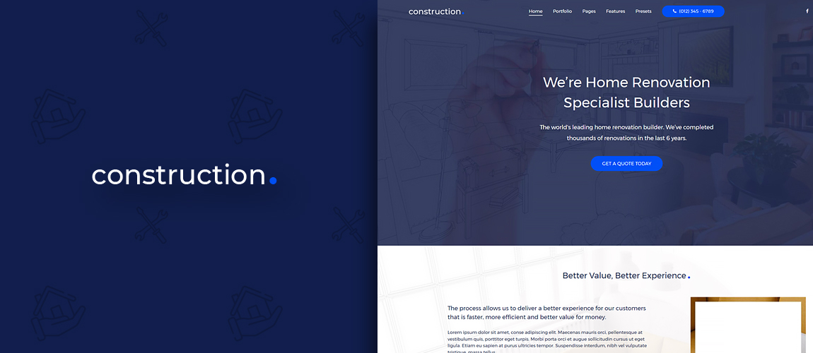 Construction - Gantry 5 Joomla Template