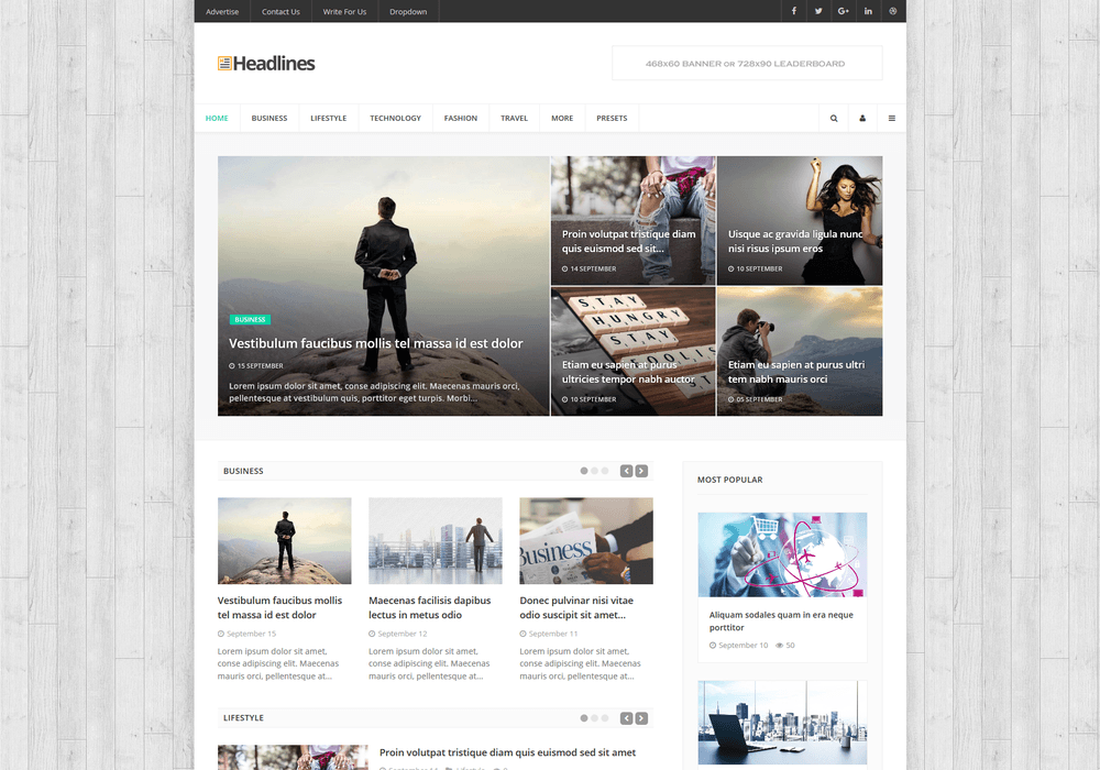 Headlines - Gantry 5 Joomla Template