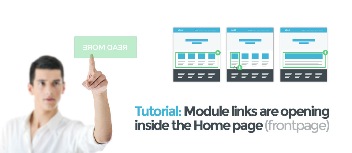 Joomla - Modules Open on Home Page