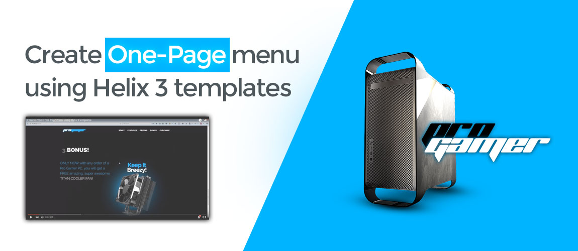 Create One-Page Menu Using Helix 3 Templates