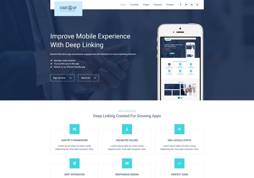 Meet Startup - Business & Corporate Gantry 5 Theme for Joomla