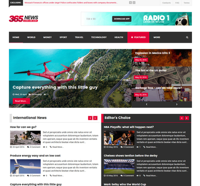 365News - Gantry 5 Joomla Template