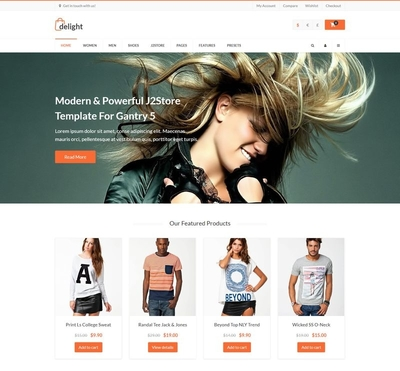 Delight - Gantry 5 Joomla Template