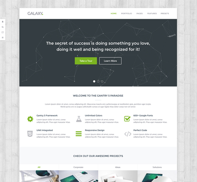 Galaxy - Gantry 5 Joomla Template