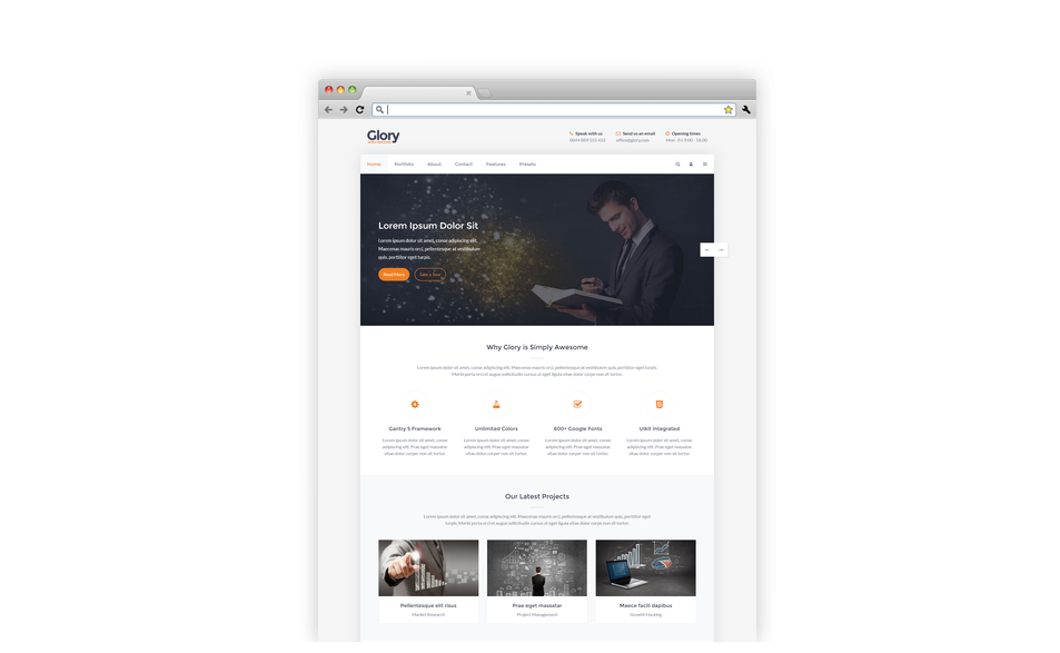 Glory - Joomla Template