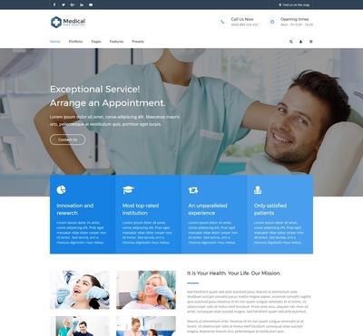 Medical - Gantry 5 Joomla Template