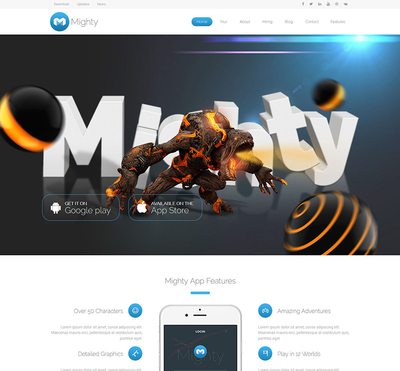 Mighty - Gantry 5 Joomla Template